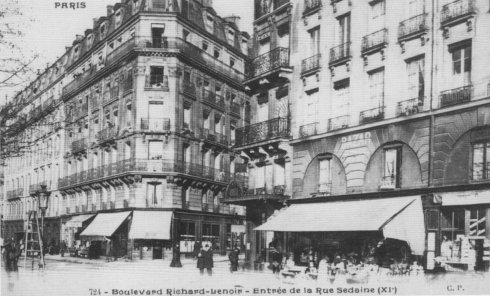 Photographies du paris d hier et d aujourd hui saint for Hotel boulevard richard lenoir paris