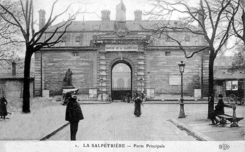 Entre principale de la Salptrire
